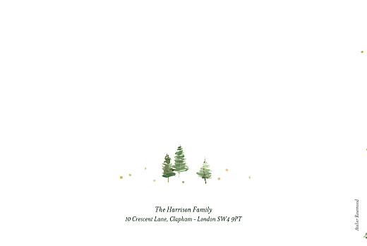 Christmas Cards Festive firs (4 pages) white - Page 4