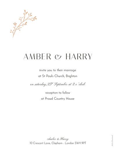 Wedding Invitations Summer breeze orange - Page 2