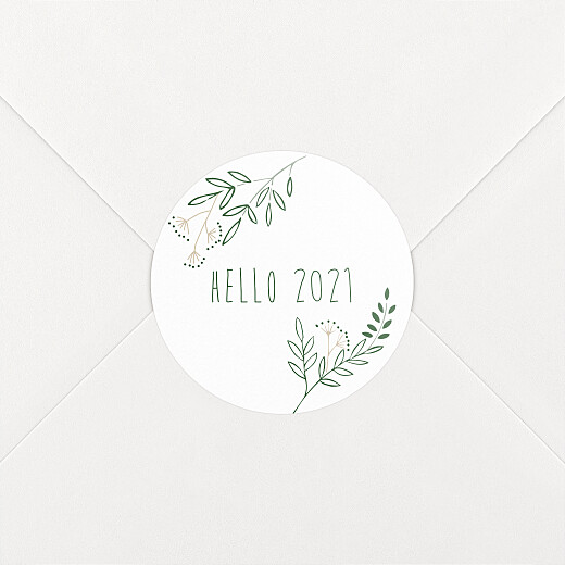 Christmas Stickers Holiday wreath white - View 2