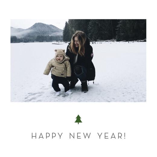 betway必威开户网站圣诞贺卡典雅的树苗白色