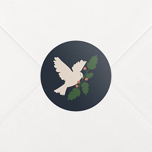 Christmas Stickers O christmas tree dove blue - View 2
