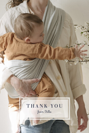 Baby Thank You Cards From us to you (4 pages) white