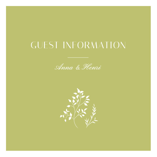 Guest Information Cards Summer breeze bamboo
