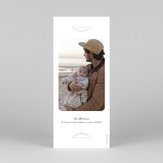 Baby Thank You Cards Tender moments (bookmark) white - View 4
