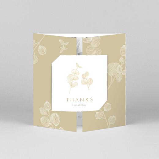 Baby Thank You Cards Everlasting eucalyptus (gatefold) beige - View 1