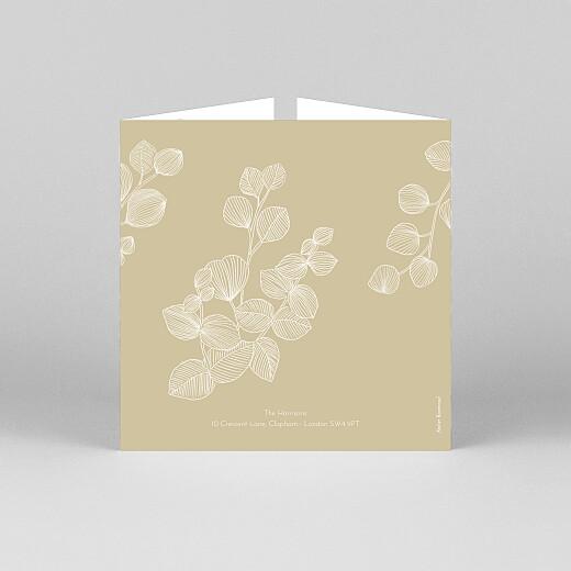 Baby Thank You Cards Everlasting eucalyptus (gatefold) beige - View 3