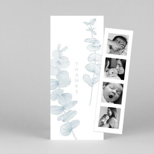 Baby Thank You Cards Everlasting eucalyptus (bookmark) blue - View 1