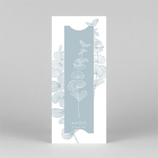 Baby Thank You Cards Everlasting eucalyptus (bookmark) blue - View 3
