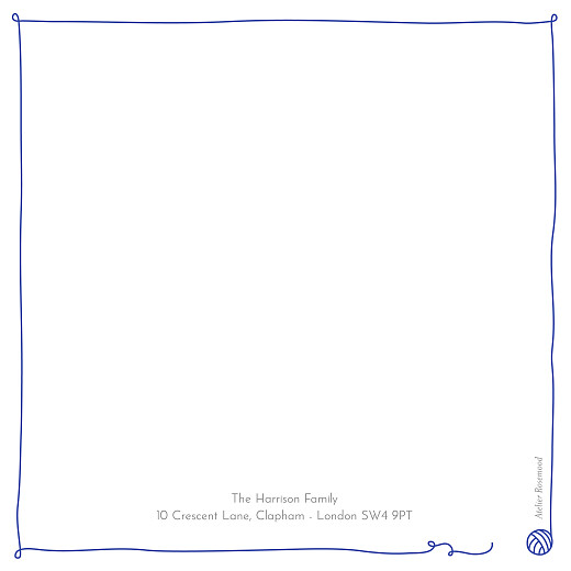 Baby Thank You Cards Cat family of 3 (4 pages) blue - Page 4