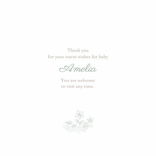 Baby Thank You Cards Bedtime story green - Page 3