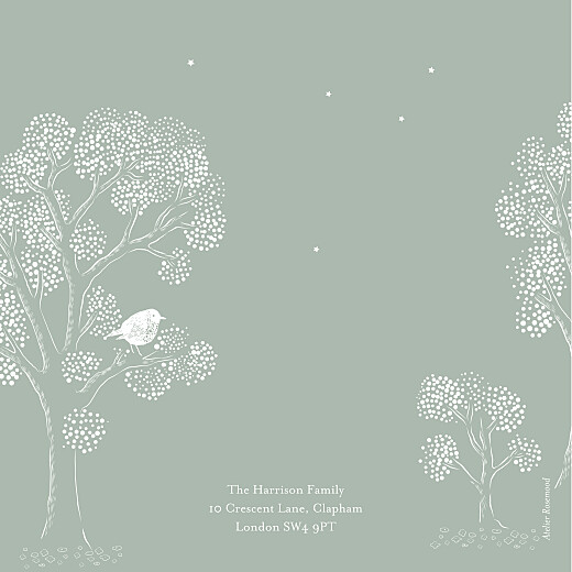 Baby Thank You Cards Bedtime story green - Page 4