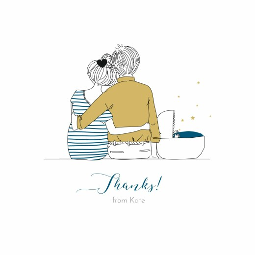 Baby Thank You Cards Lovely family (4 pages) blanc