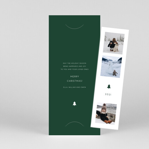 Christmas Cards Elegant sapling (bookmark) green - View 1