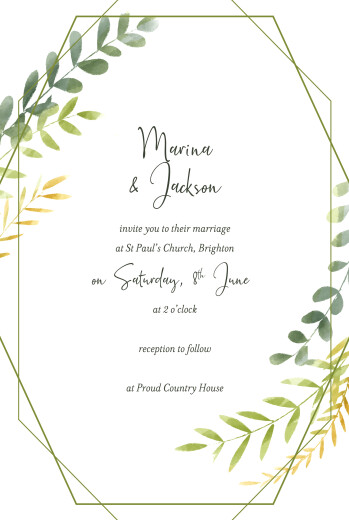 Wedding Invitations Enchanted green - Page 1