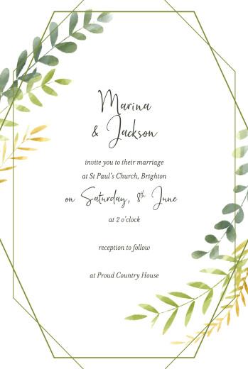 婚礼邀请迷人的绿色