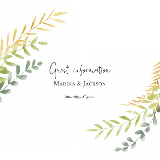 Guest Information Cards Enchanted green