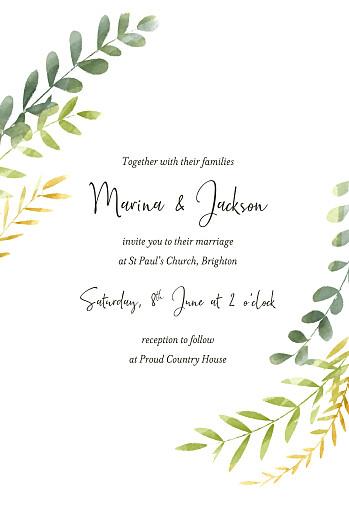 Wedding Invitations Enchanted (foil) green