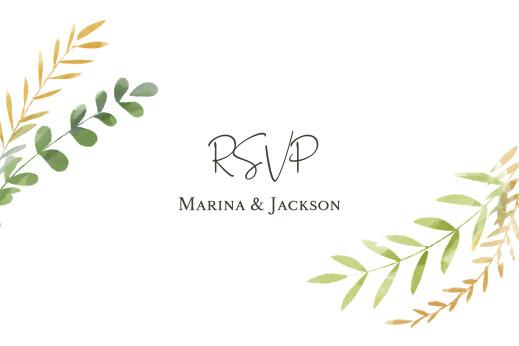 RSVP Cards Enchanted (landscape) green