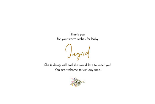 Baby Thank You Cards Green family landscape white - Page 3
