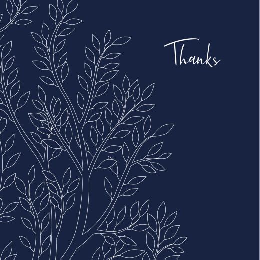 Baby Thank You Cards The family tree blue