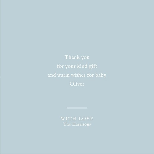 Baby Thank You Cards Medallion (4 pages) blue - Page 3