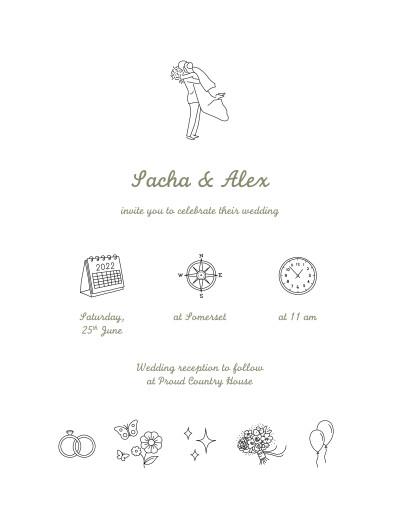 婚礼邀请你的一天,你的方式白色