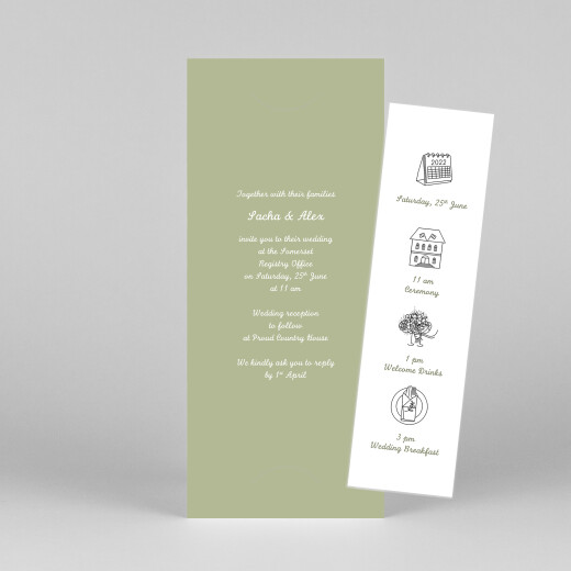 Wedding Invitations Your day, your way (bookmark) green - View 1