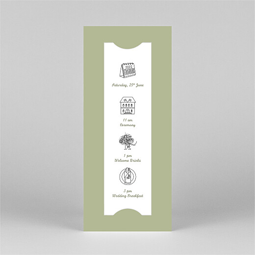 Wedding Invitations Your day, your way (bookmark) green - View 2