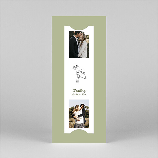 Wedding Invitations Your day, your way (bookmark) green - View 3