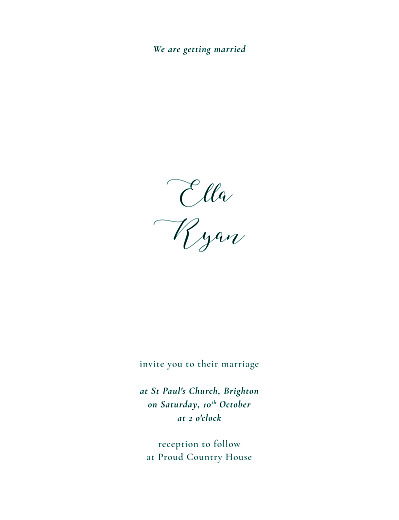 Wedding Invitations Fields of gold (foil) portrait green - Page 1