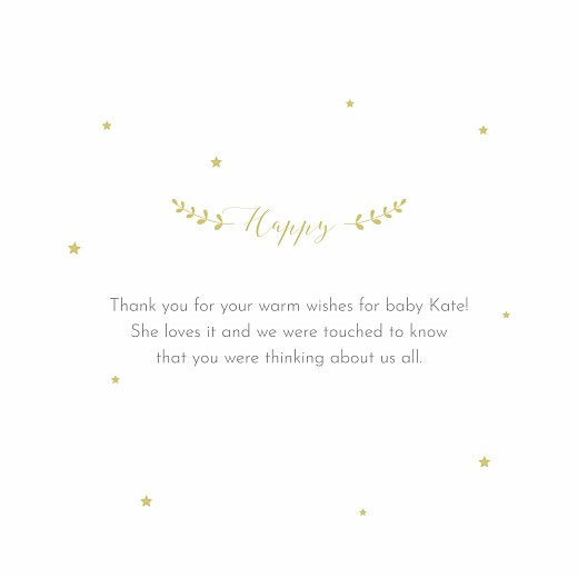 Baby Thank You Cards Lovely family (4 pages) blanc - Page 3