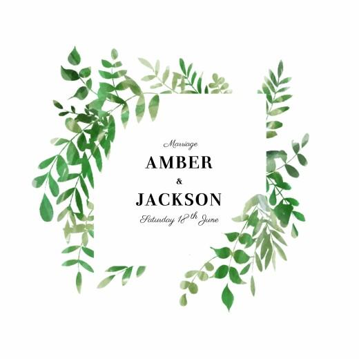 Wedding Invitations Cascading canopy green