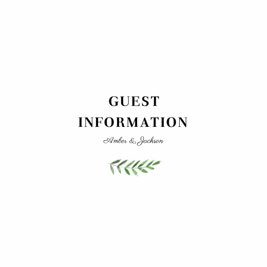 Guest Information Cards Cascading canopy (square) green