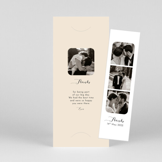 Wedding Thank You Cards Tender moments (bookmark) beige - View 1