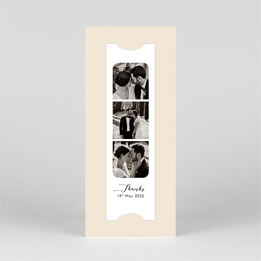 Wedding Thank You Cards Tender moments (bookmark) beige - View 2