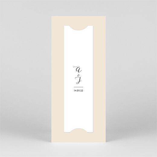 Wedding Thank You Cards Tender moments (bookmark) beige - View 3