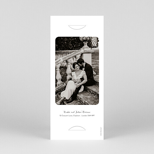 Wedding Thank You Cards Tender moments (bookmark) beige - View 4