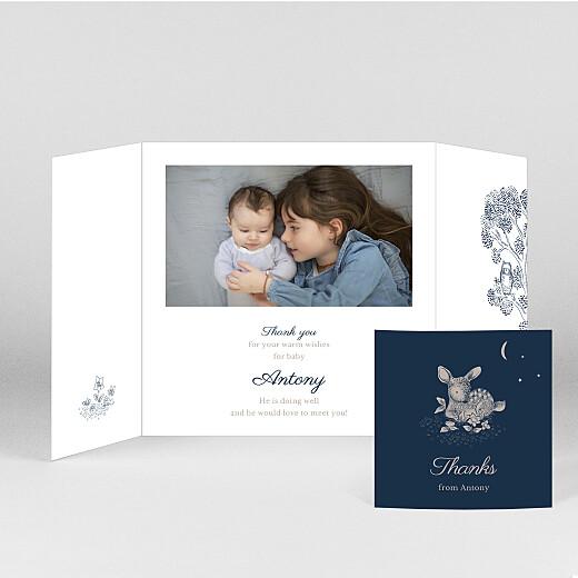 婴儿感谢你的卡片睡前故事(折叠)蓝色-视图2