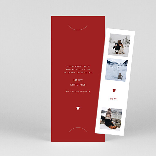 Christmas Cards Elegant heart (bookmark) red - View 1
