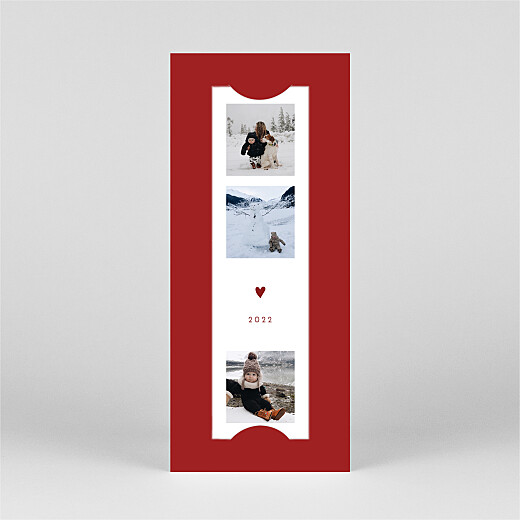 Christmas Cards Elegant heart (bookmark) red - View 2