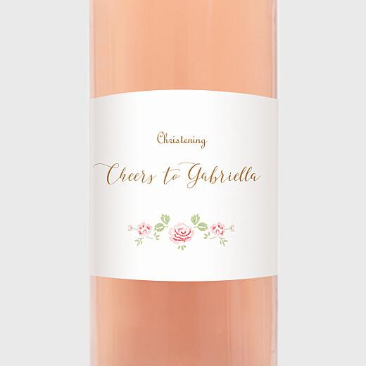 Christening Wine Labels Rose garden white - View 2