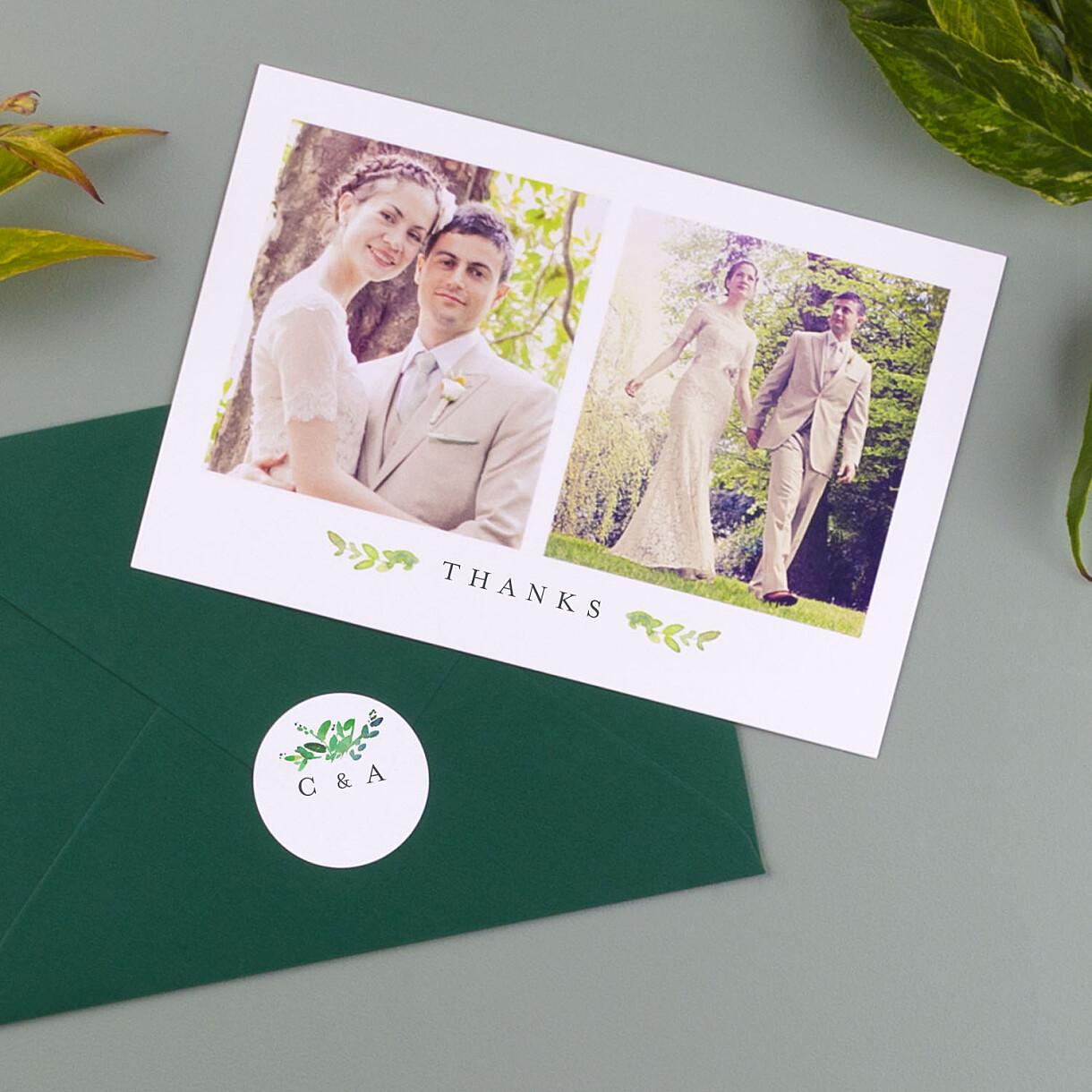Canopy wedding envelope stickers