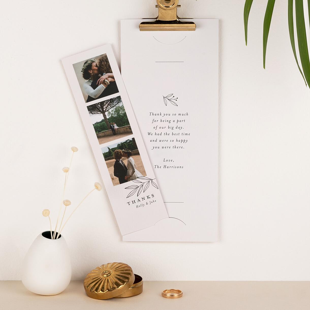 Budding branch wedding thank you cards