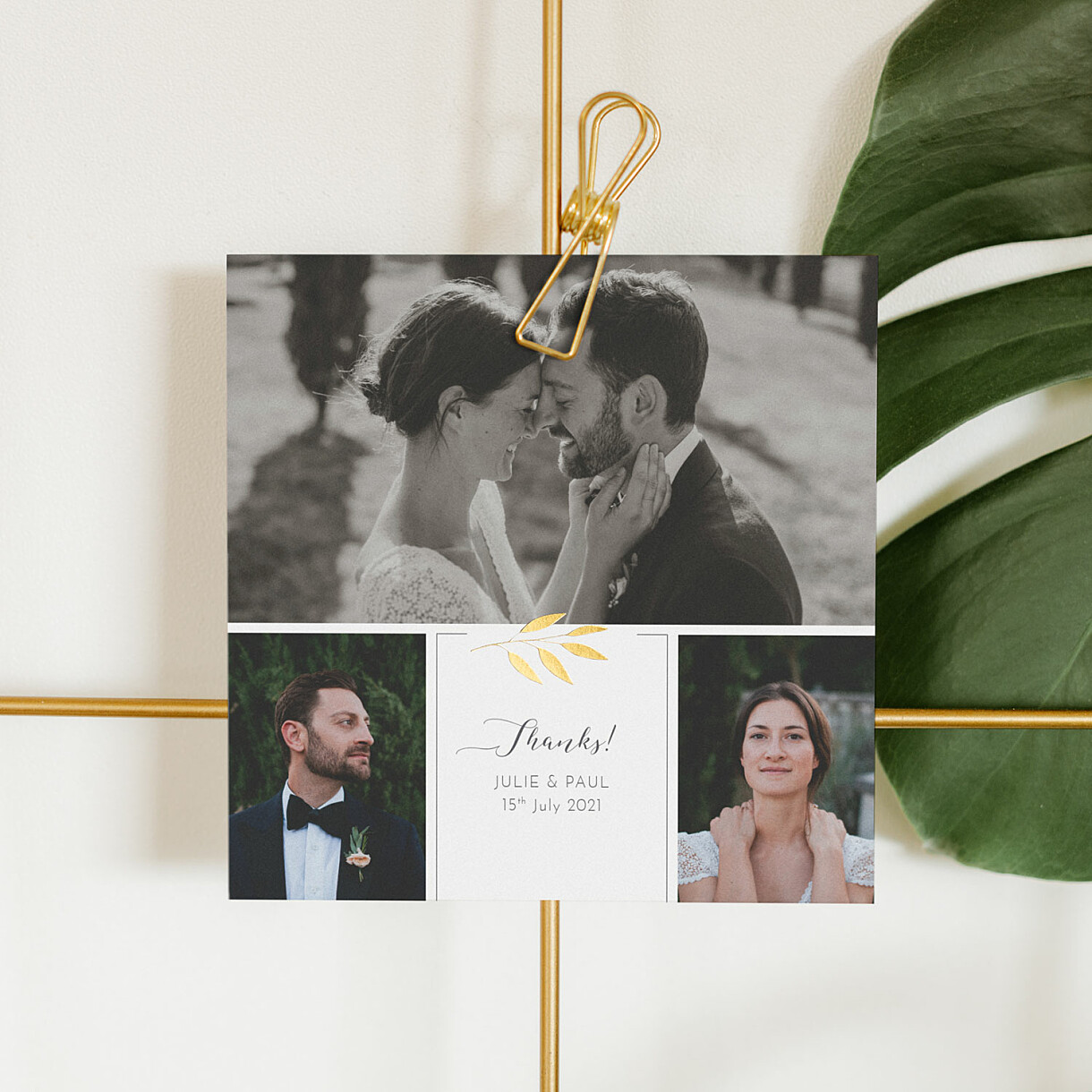 Lovely laurel wedding thank you cards